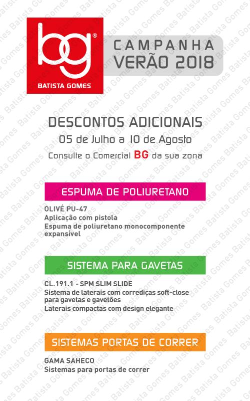 Batista Gomes - VERÃO 2018 - DESCONTOS ADICIONAIS
