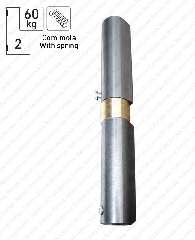 Batista Gomes - OM.415.M - Olhal (dobradiça) para soldar regulável com mola - AÇO