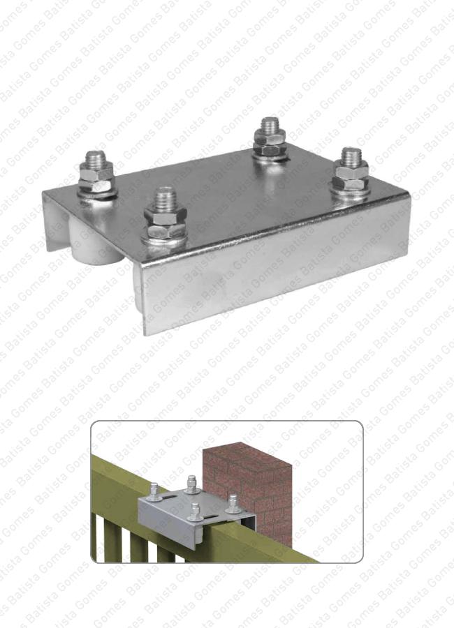 Batista Gomes - P.965-P INOX - Placa guia com 4 rolamentos em nylon reguláveis