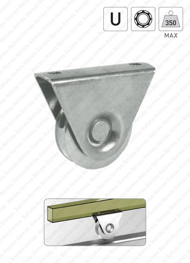 Batista Gomes - R.385 - Roda com suporte externo e canal U / 1 rolamento