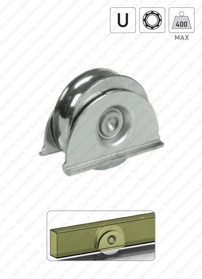 Batista Gomes - R.387 - Roda com suporte lateral e canal U / 1 rolamento