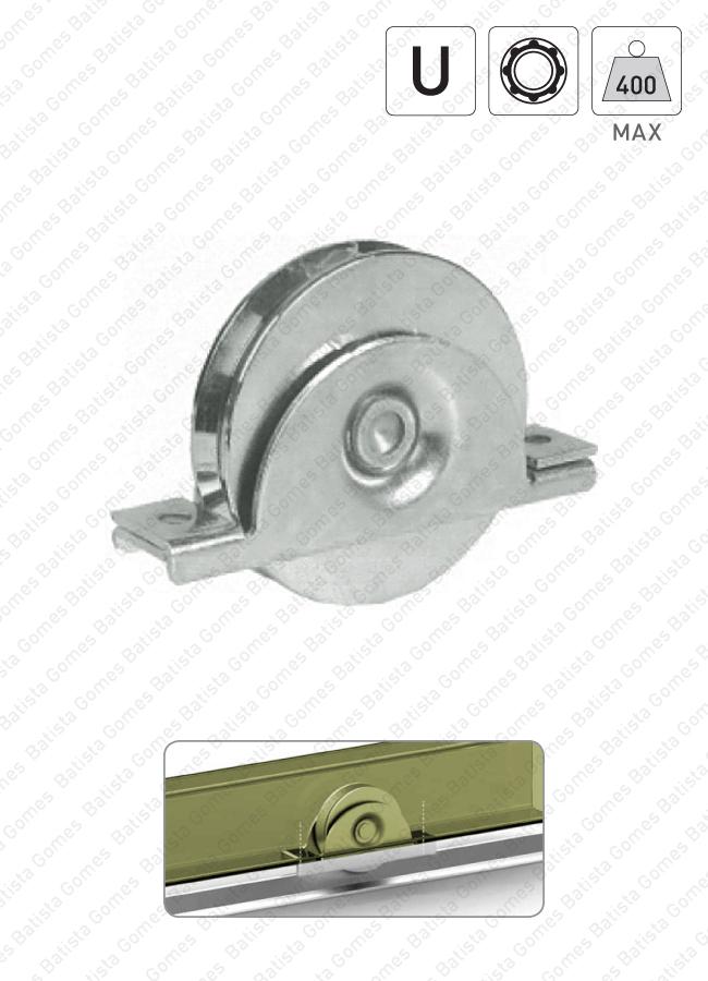 Batista Gomes - R.392 / R.392L - Rodas com suporte interno e canal U / 1 rolamento