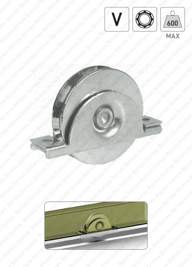 Batista Gomes - R.393 - Roda com suporte interno e canal V / 1 rolamento