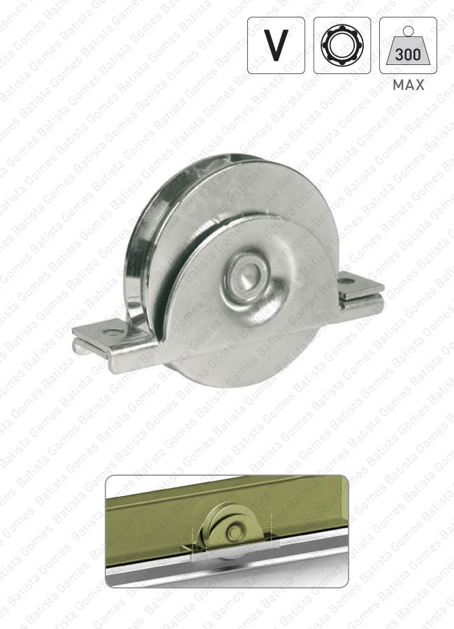Batista Gomes - R.993 INOX - Roda com suporte interno e canal V / 1 rolamento
