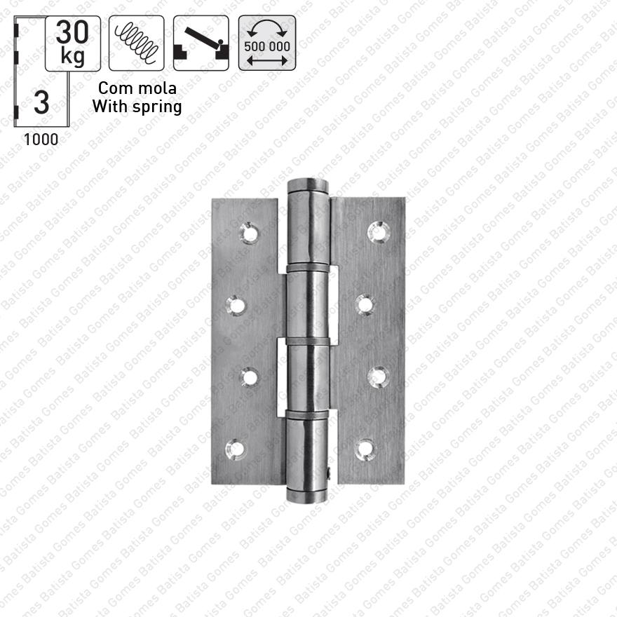 Batista Gomes - DM.5314J Mola - Dobradiças de mola acção simples 120mm - INOX 304