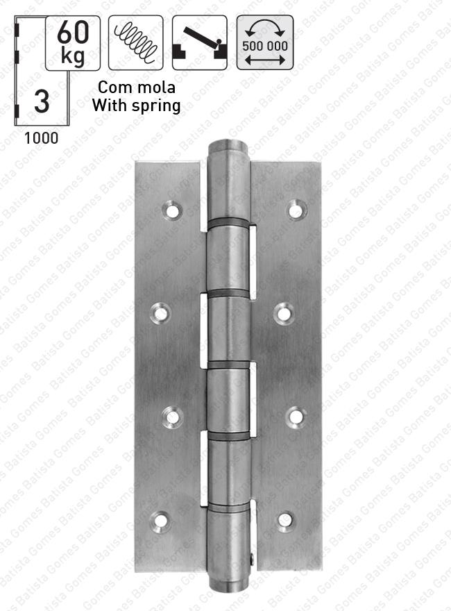 Batista Gomes - DM.5814J Mola - Dobradiça de mola acção simples 180mm - INOX 304