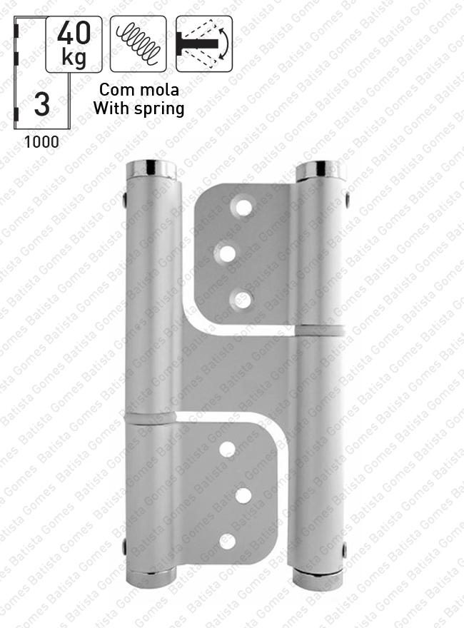 Batista Gomes - DM.6014J - Dobradiça de mola acção dupla (Vai-Vem) 120mm - ALUMÍNIO