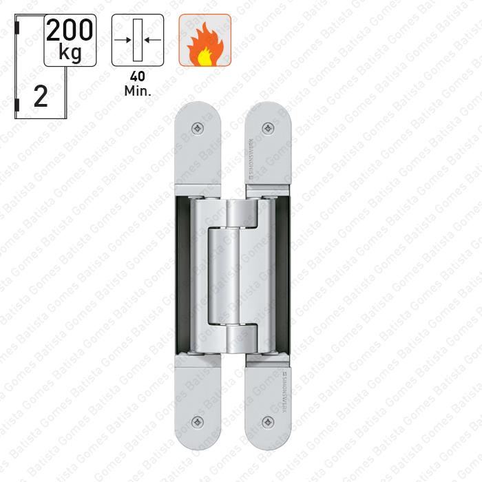 Batista Gomes - D.TE.640.3D Simonswerk - Dobradiça oculta / invisível TECTUS 3 D - Carga 200Kgs (2 Dobradiças)