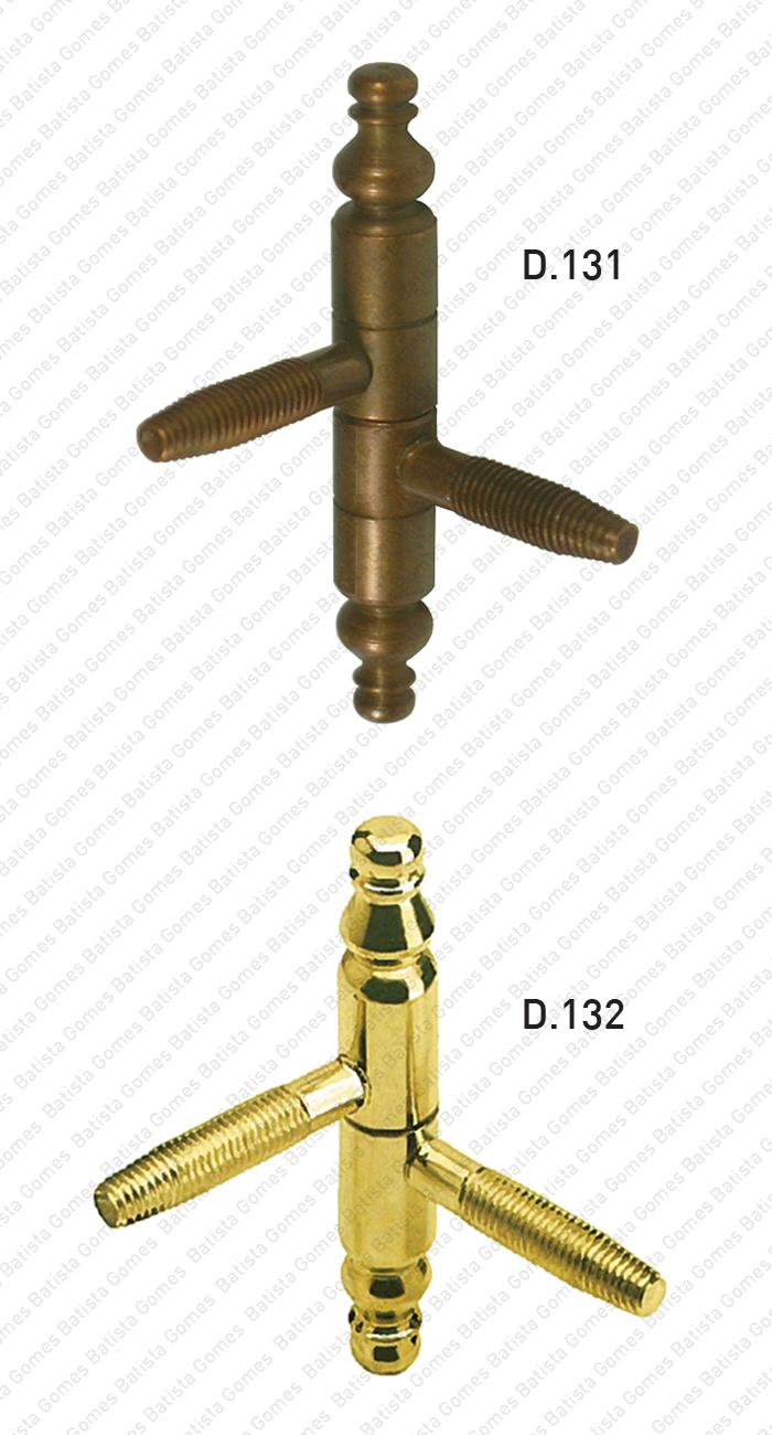 Batista Gomes - D.131 / D.132 - Dobradiças de perno com pirâmide para portas ou janelas com Ø9, Ø11, Ø13 e Ø14 - AÇO
