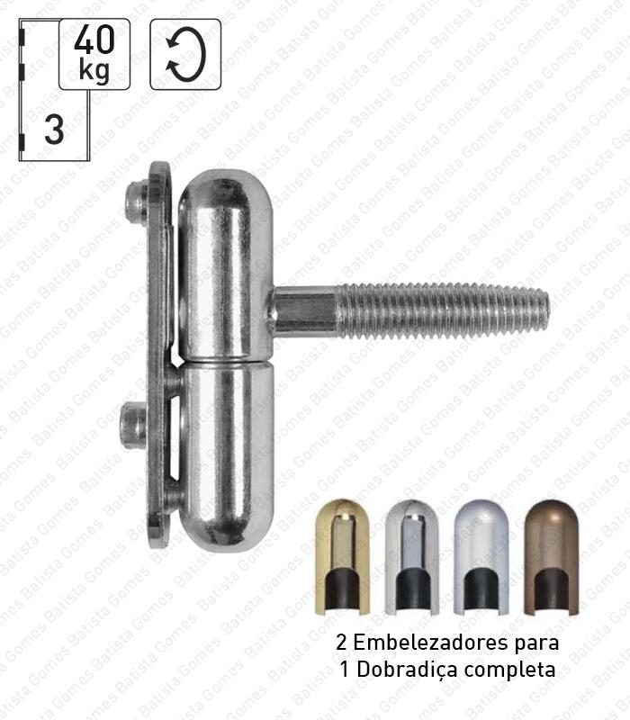 Batista Gomes - D.REVER - Dobradiça de perno reversível para portas batente