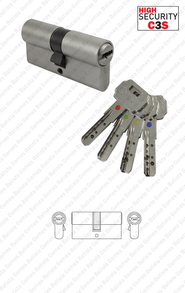Batista Gomes - CIL.2641.C3S - Cilindro segurança perfil europeu acesso selectivo C3S - Chave / Chave
