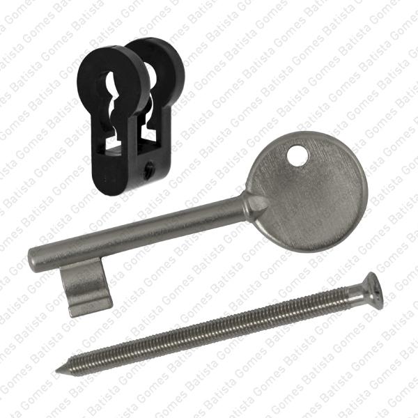 Batista Gomes - CIL.AKN.1CH - Acessório adaptador para converter fechadura para cilindro europeu em chave mormal