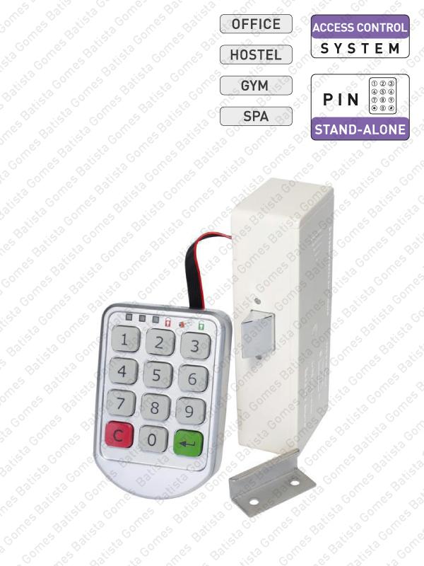 Batista Gomes - CA.1460-KIT - Controlo de acessos com código PIN / auto-programável para armários
