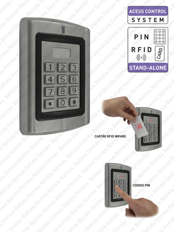 Batista Gomes - CA.6502.M - Controlo de acessos com código e/ou cartão de proximidade MIFARE
