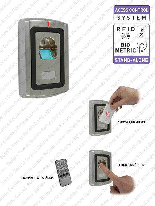 Batista Gomes - CA.6602 - Controlo de Acessos com leitor biométrico ou cartão de proximidade