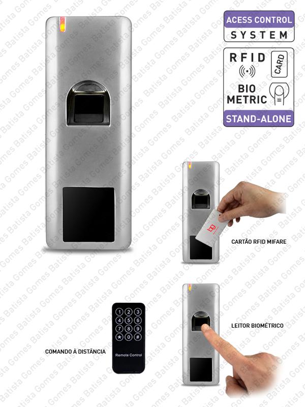 Batista Gomes - CA.6603.K3 - Controlo de acessos com leitor biométrico e cartão de proximidade