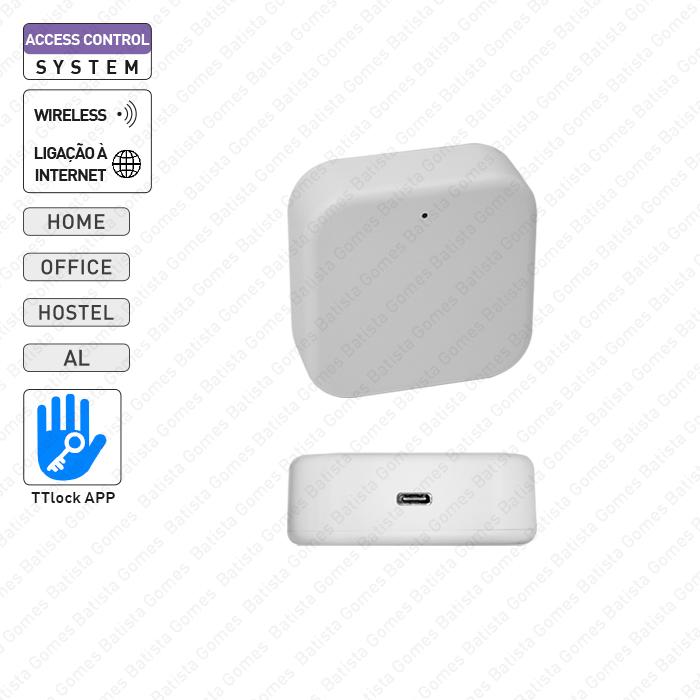 Box para ligação à internet dos controlos de acesso da aplicação TTLock