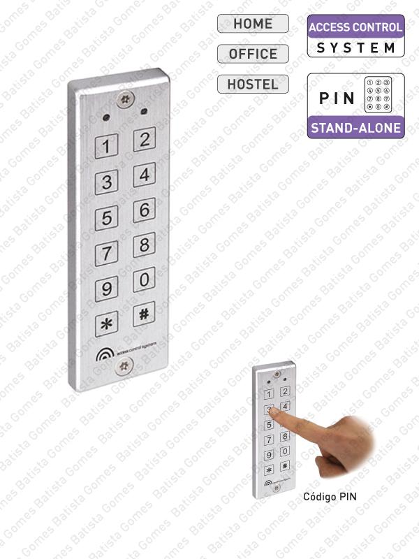 Batista Gomes - CA.6801 - Controlo de acessos com código PIN auto-programável
