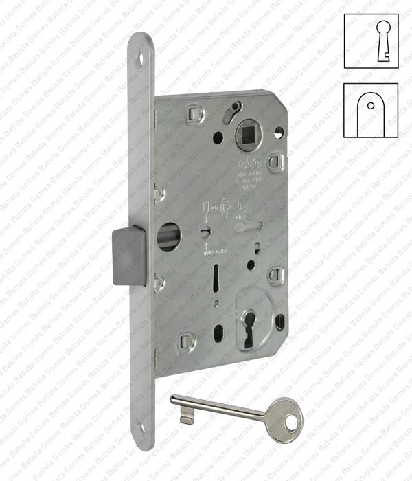Batista Gomes - F.110.1.01.R - Mediana Evolution - Fechadura de embutir Mediana Evolution com chave