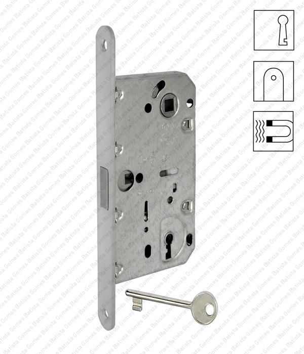 Batista Gomes - F.110.91.01.R - Mediana Polaris - Fechadura de embutir magnética Mediana Polaris com chave