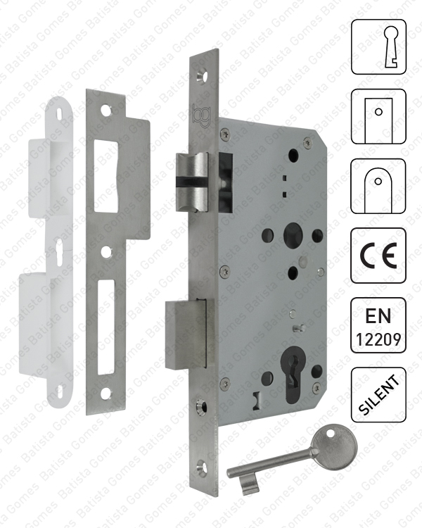 Batista Gomes - F.880.1.01 - Fechadura embutir com chave ( Série 880 ) - INOX