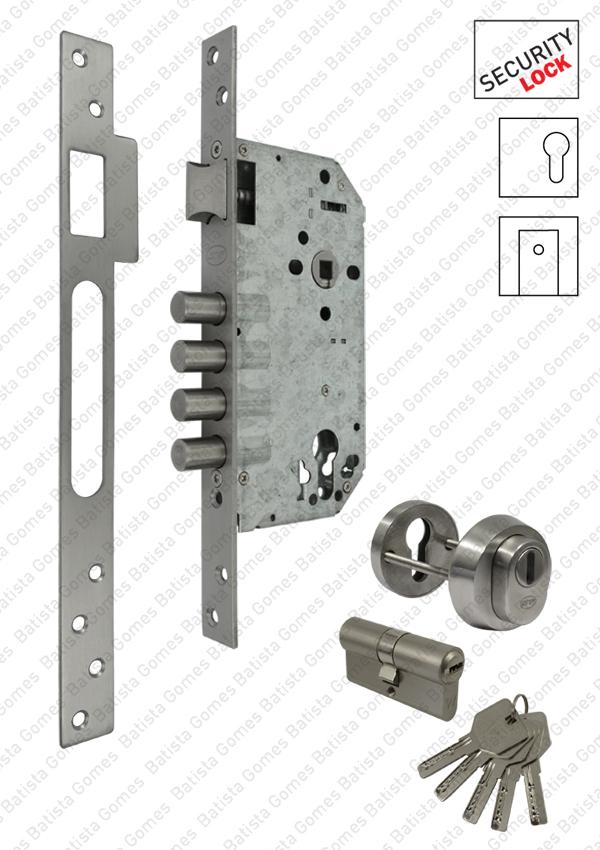 Batista Gomes - F.513.1.03 - Fechadura segurança embutir para cilindro europeu