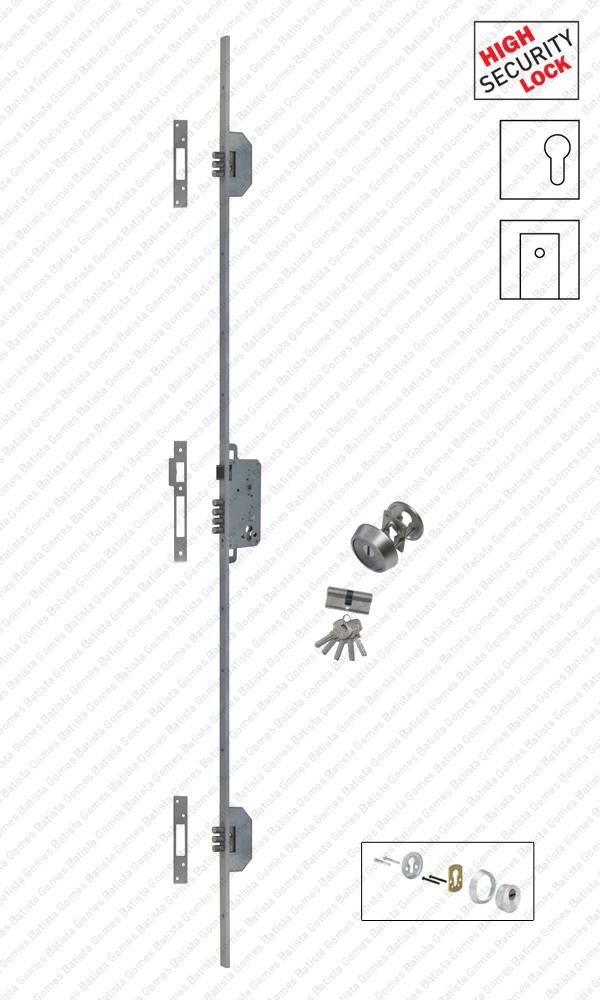 Batista Gomes - F.530.1.03 - Fechadura embutir alta segurança multiponto