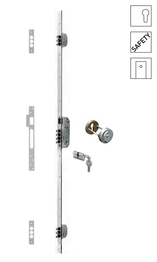 Batista Gomes - F.533.1.03 - Fechadura embutir alta segurança multiponto - INOX