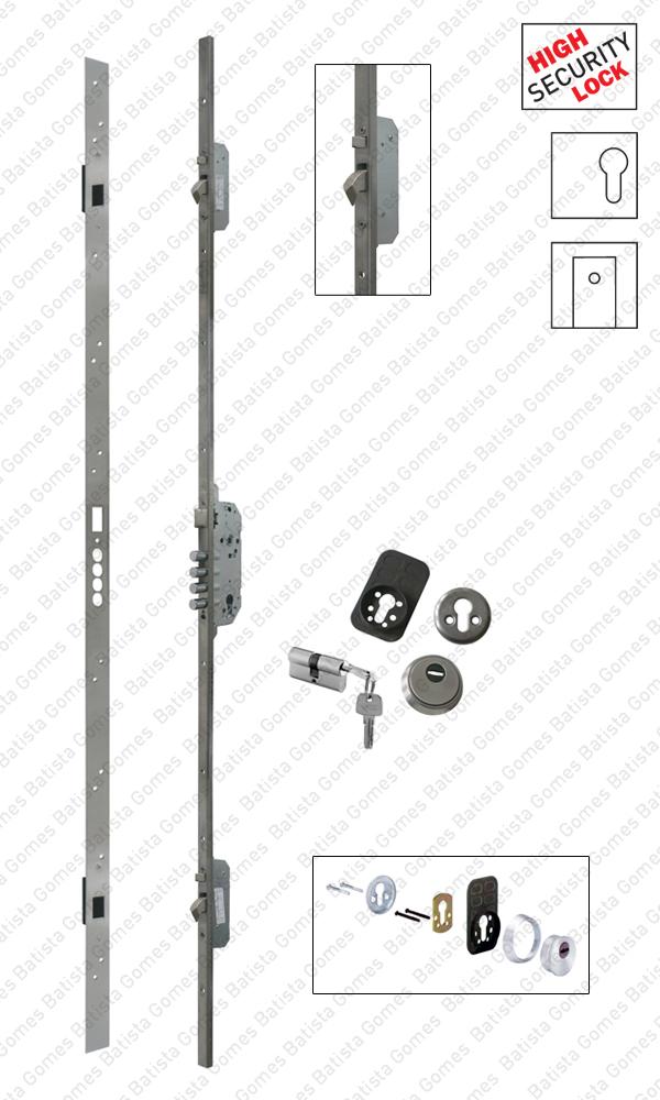 Fechadura embutir alta segurança multiponto - Automática