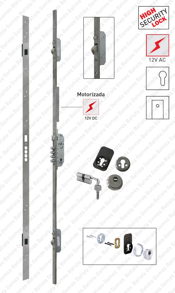 Batista Gomes - F.536.1.03 - Fechadura embutir alta segurança multiponto - Automática / Motorizada