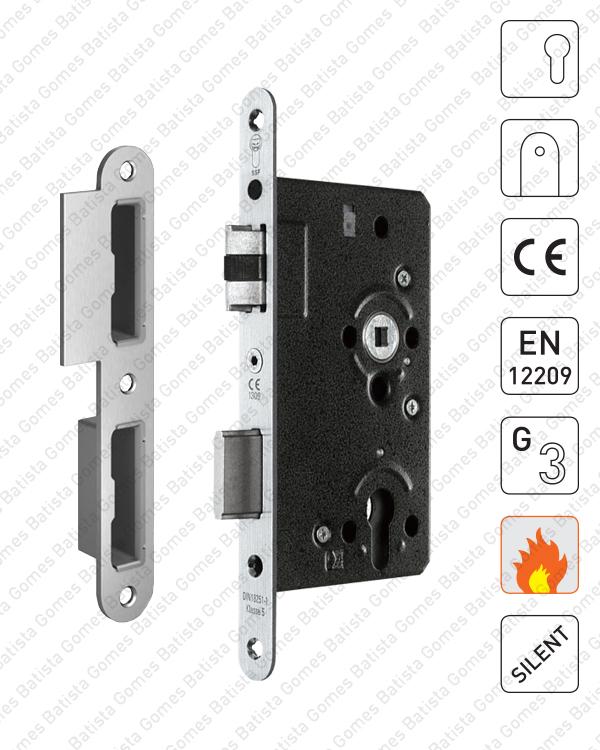 Batista Gomes - F.852.2.03.R - Fechadura embutir para cilindro europeu / CE ( Corta Fogo ) - INOX
