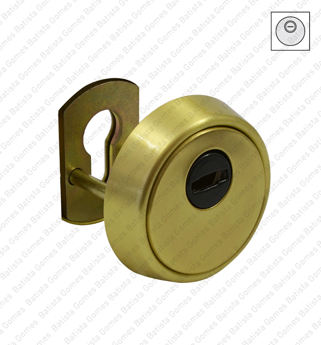 Batista Gomes - ES.E700L - Escudo segurança integral para cilindro europeu - LATÃO