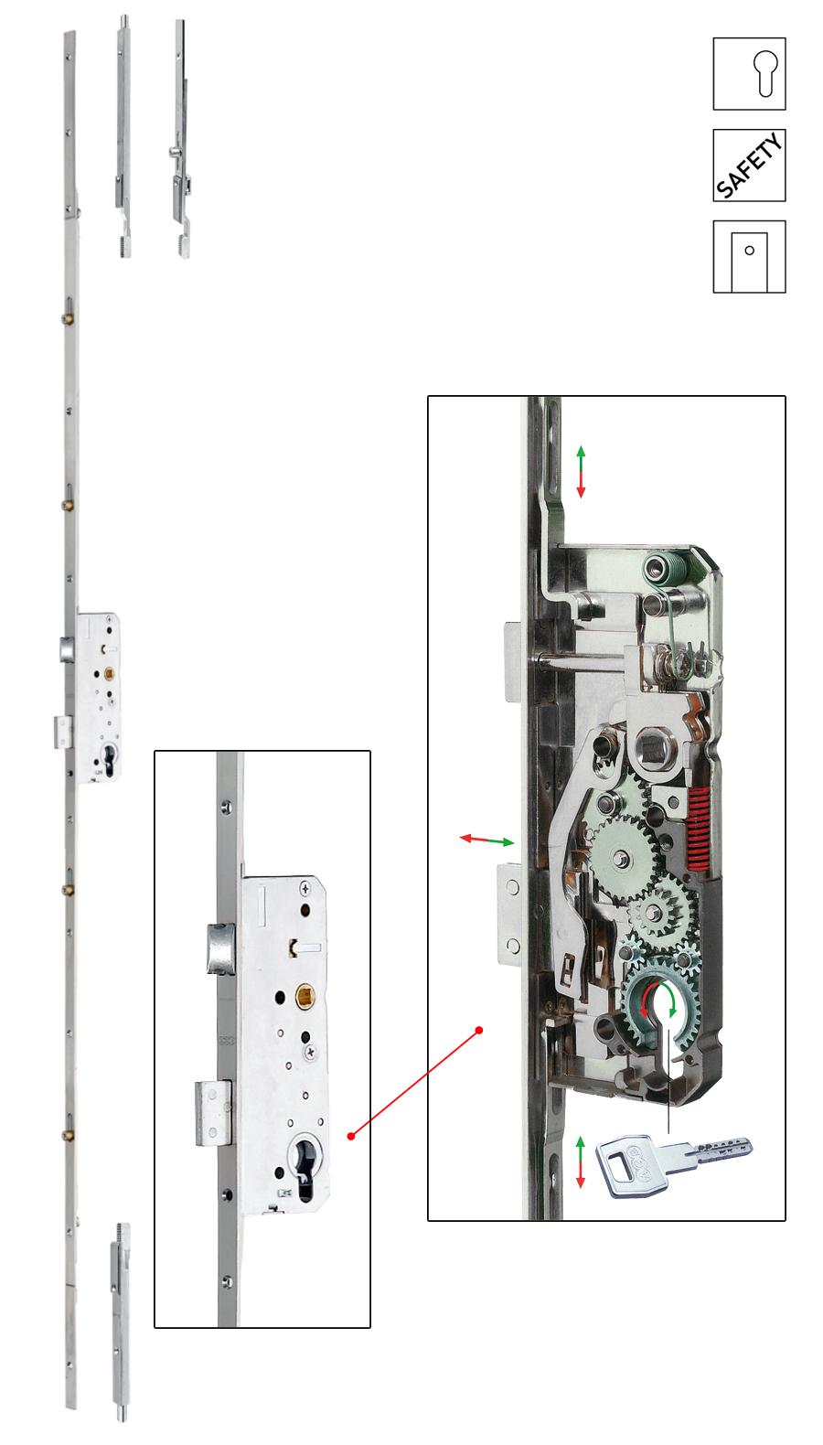 Batista Gomes - F.11400 - SICURTOP - Fechadura embutir multiponto