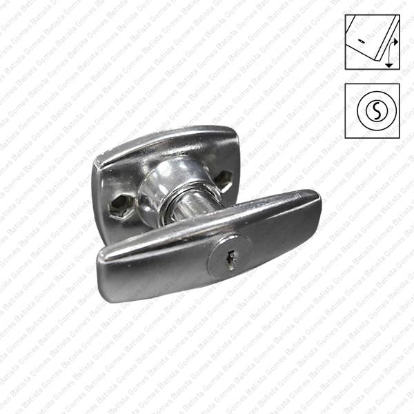 Batista Gomes - P.1995 - Puxador (torniquete) simples rotativo com chave