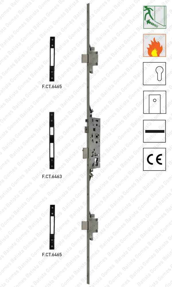 Batista Gomes - F.43735 - Fechadura corta-fogo / antipânico (QI / Função B)