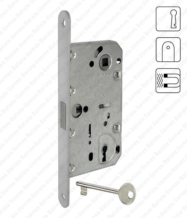 Batista Gomes - F.110.91.01 - Mediana Polaris - Fechadura de embutir magnética Mediana Polaris - Com chave