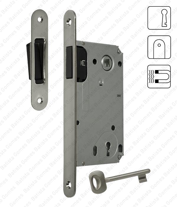 Batista Gomes - F.114.91.01.R - Fechadura de embutir magnética - Com chave