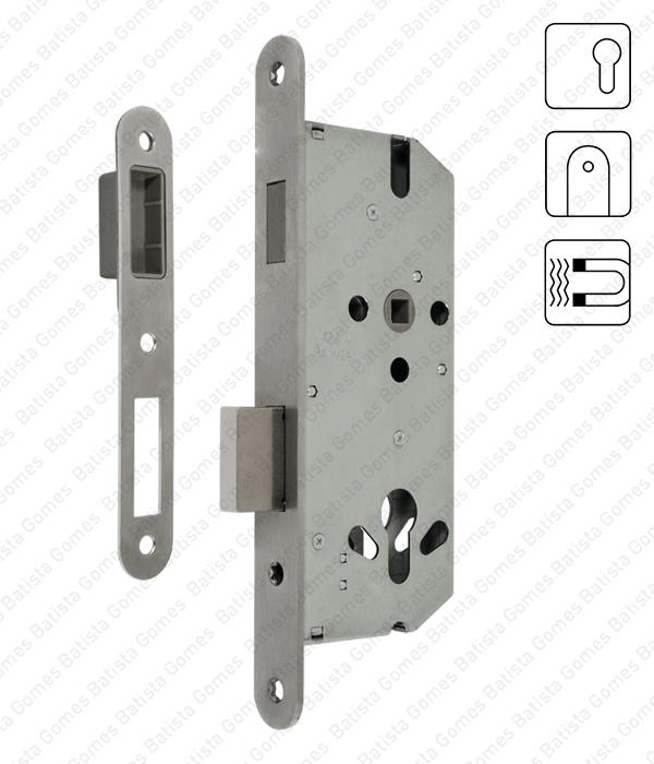 Batista Gomes - F.881.91.03.R - Fechadura de embutir magnética - Para Cilindro - Trinco magnético e língua
