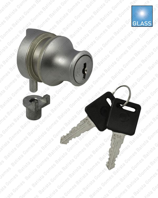 Batista Gomes - F.7711 - Fechadura com cilindro para mobiliário - Portas em vidro