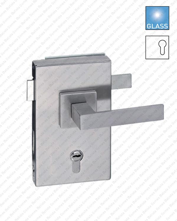 Batista Gomes - F.330V.1.03 - Fechadura para porta de vidro - para puxadores Rotativo / Rotativo
