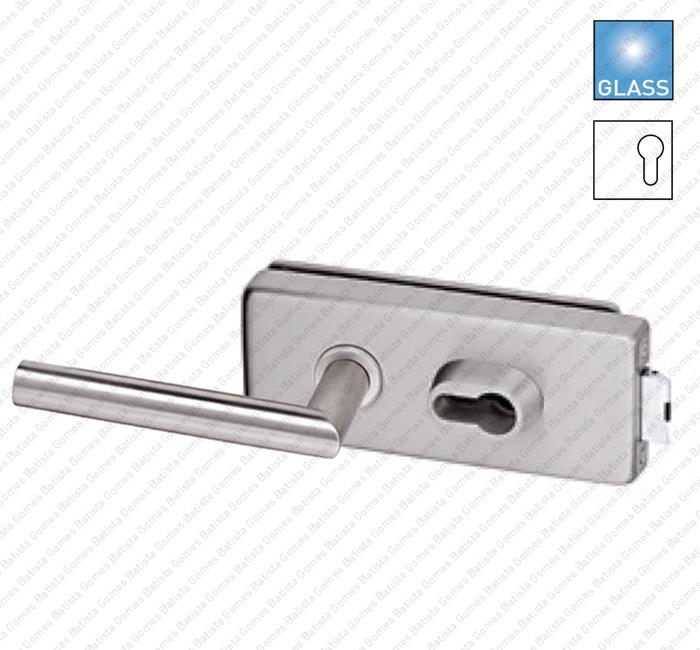 Batista Gomes - F.340V.1.03 - Fechadura para porta de vidro - para puxadores Rotativo / Rotativo