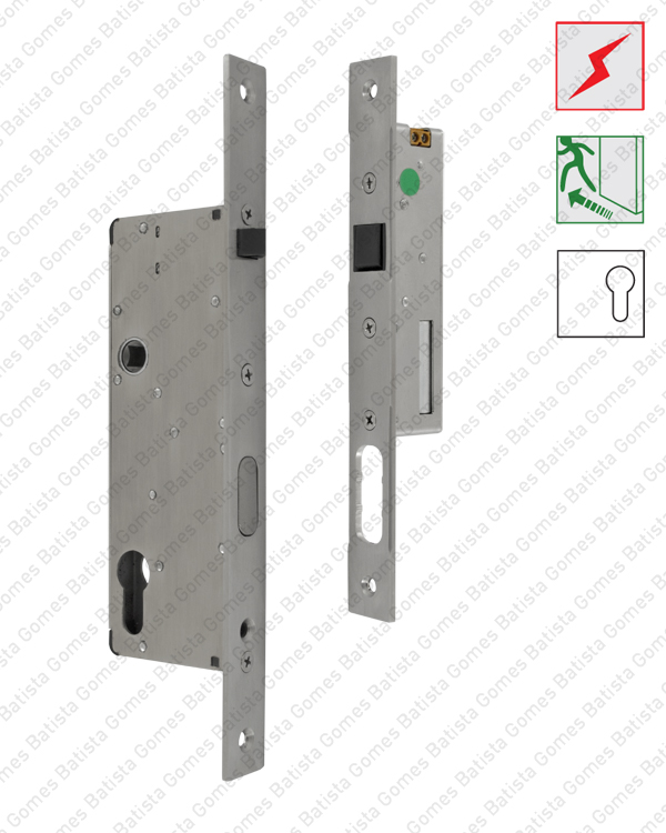 Batista Gomes - F.1360 Kit Twin Lock - Fechadura antipânico automática + Testa eléctrica