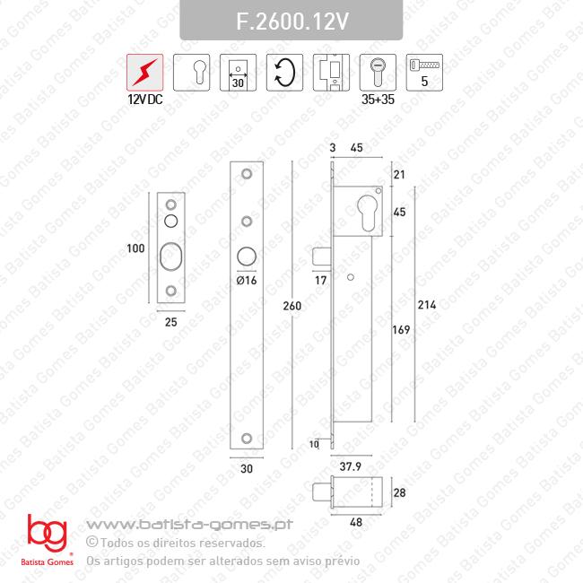 Fechadura eléctrica DROP PIN / PINO SOLENOIDE