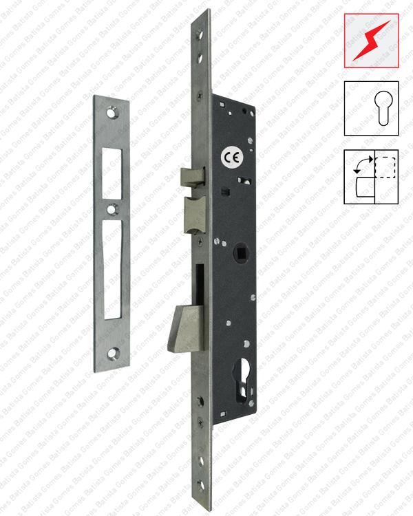 Batista Gomes - F.7818.3.03 - Fechadura eléctrica de embutir para cilindro europeu com língua basculante - Série Electa