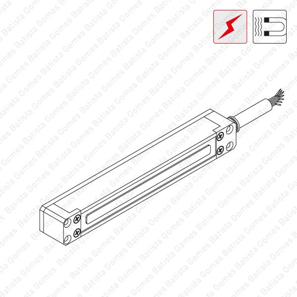 Batista Gomes - F.ME.510 -  Fechadura electromagnética sobrepôr - Multivolt / Monitorizada