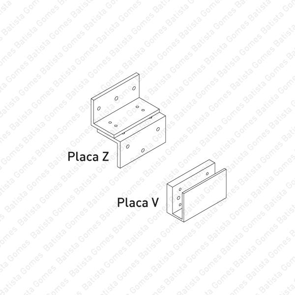 Batista Gomes - Placas para F.MEX.070 - Placas / Suportes montagem para F.MEX