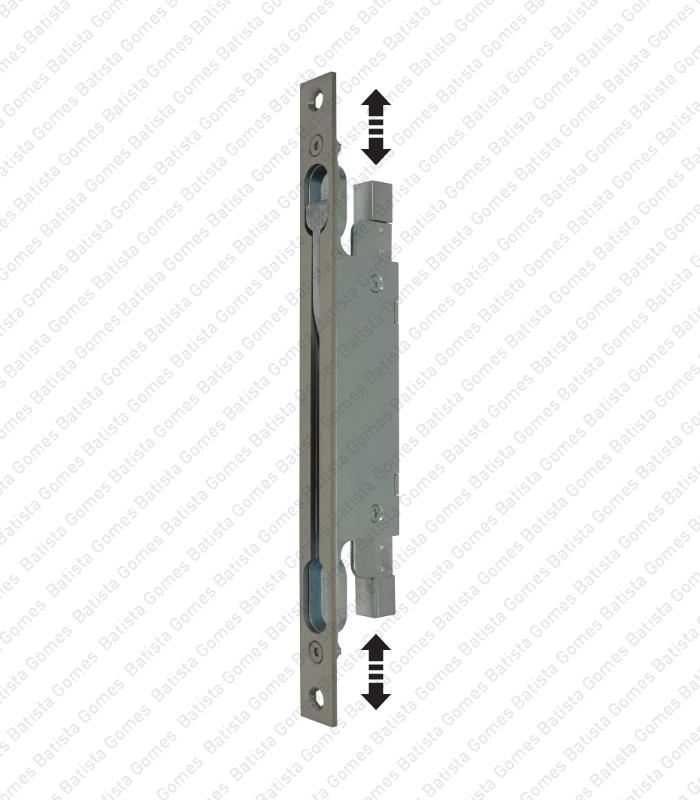 Fecho de embutir vertical - INOX 304