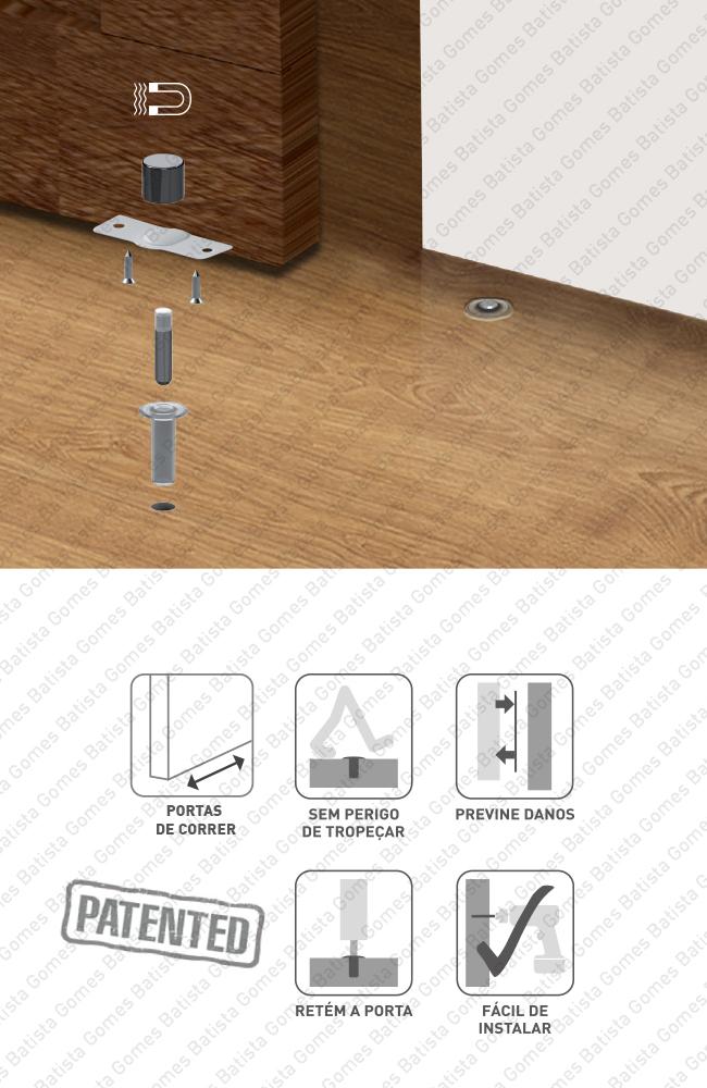 Batista Gomes - BP.1495 FANTOM - PORTAS CORRER - Batente para portas de correr - magnético e invisível