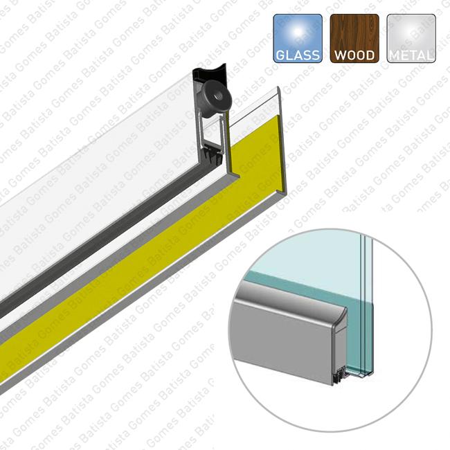 Batista Gomes - VP.2506 - Veda portas sobrepôr para portas de vidro, madeira e metálicas