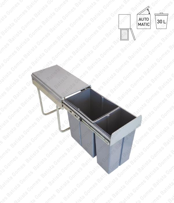 Batista Gomes - BL.3101 - Balde para lixo extraível - Porta lateral - Mód. 300 - Automático - 30L